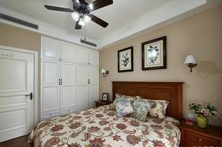 40万搞定120平美式风格装修温馨次卧设计