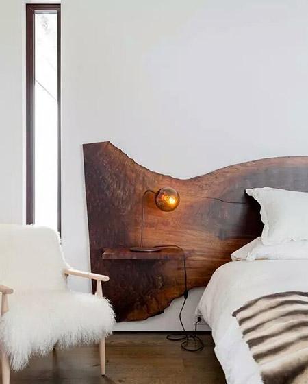 创意卧室床头背景墙装修图