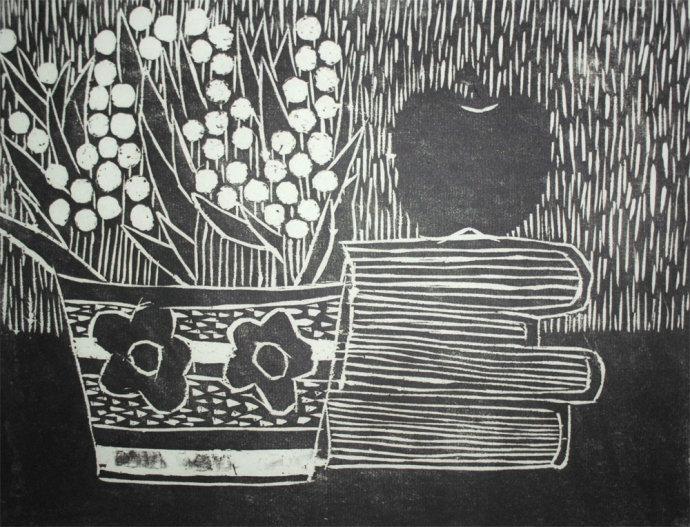 黑白木刻版画素材欣赏