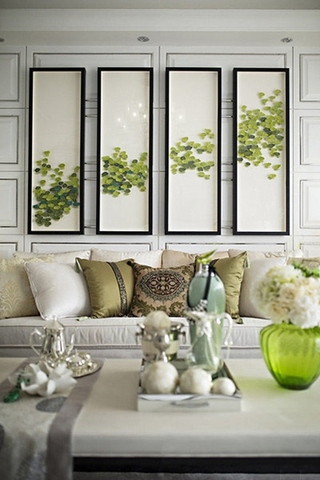130平尊贵简欧风格装修客厅效果图