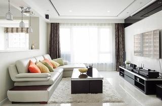 现代风格三室两厅装修客厅效果图