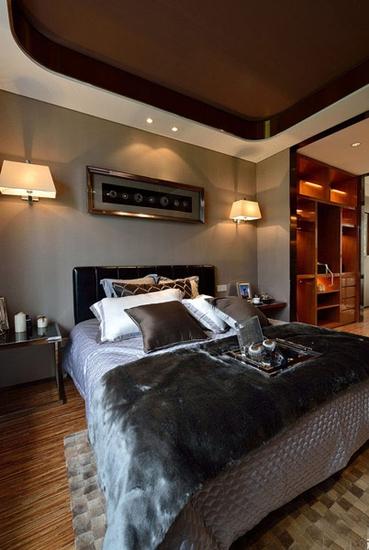 110平现代简约风格装修简约卧室