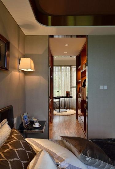 110平现代简约风格装修温馨卧室