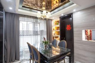 简约美式婚房装修图餐厅效果图