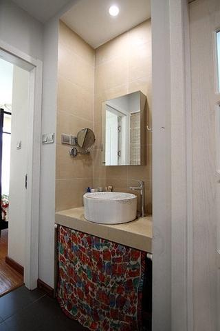 装修效果图 家居美图 小户型简欧风格老年公寓经济型3平方卫生间洗手