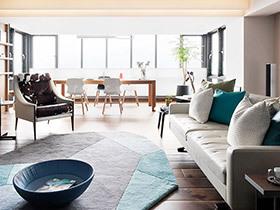 130平北欧风格大两居装修效果图 天水合一