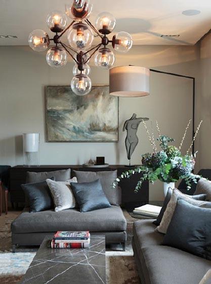 客厅灯饰装修装饰效果图