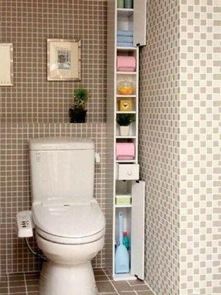 小户型卫生间收纳图片大全