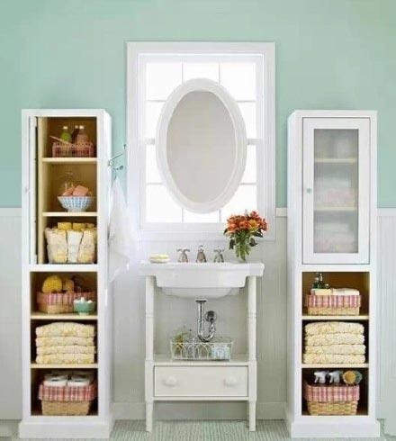卫生间收纳柜布置图片