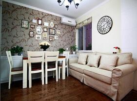 75平美式田园风格装修  富有美感的两居室