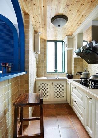 清新地中海装修厨房设计