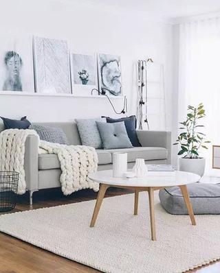 简约北欧客厅沙发图片