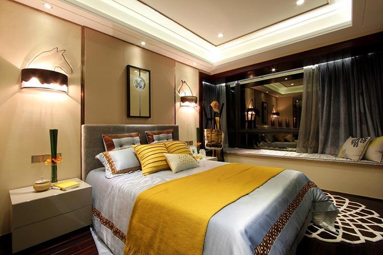 时尚现代新中式卧室效果图