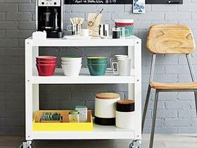 12个厨房推车收纳效果图 厨房最佳备胎