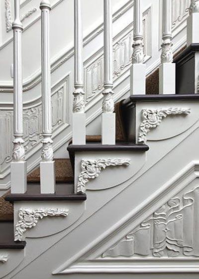 墙壁雕花设计楼梯构造图