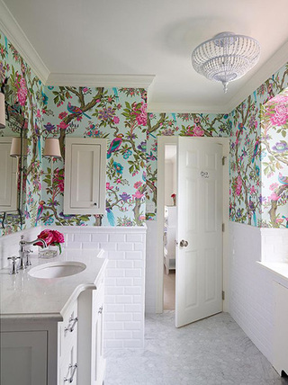 卫生间壁纸设计图片大全