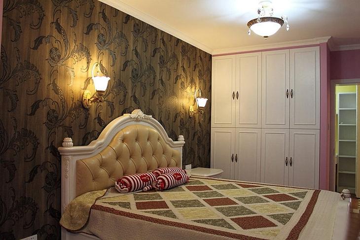 复古美式田园风 卧室背景墙装饰