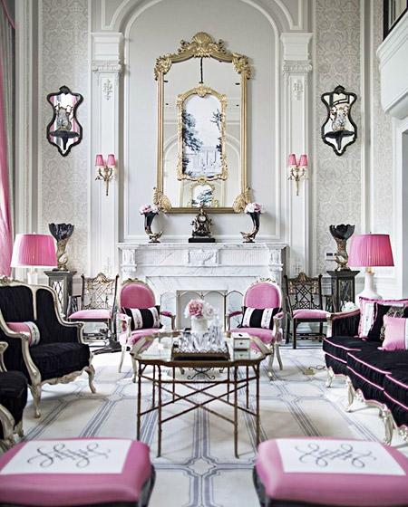 美式风格客厅装潢设计图