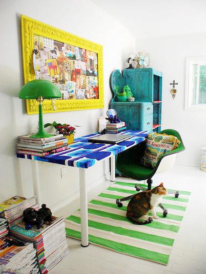 彩色改造书房设计图