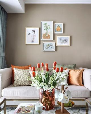 浪漫美式沙发照片墙欣赏