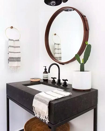 美式风格卫生间镜子设计图