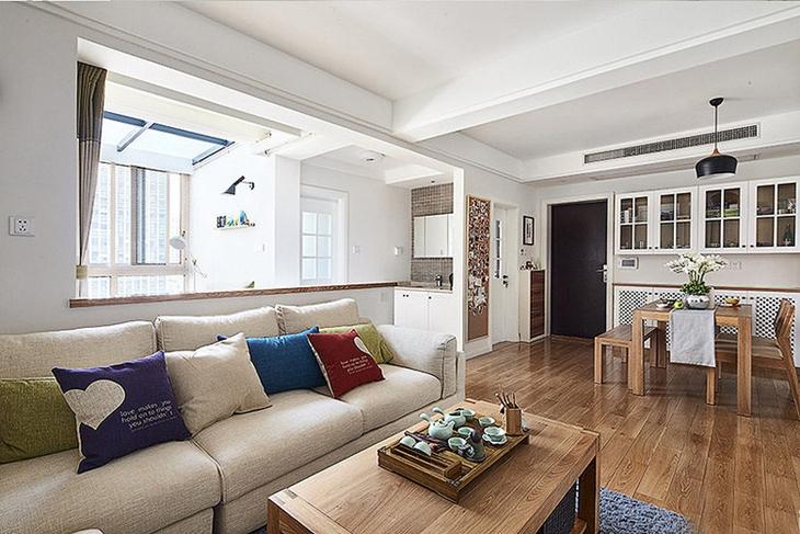 清新舒适简约风格装修温馨客厅