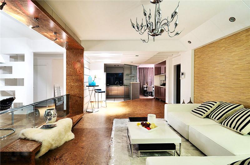 120平现代简约风格三室两厅装修