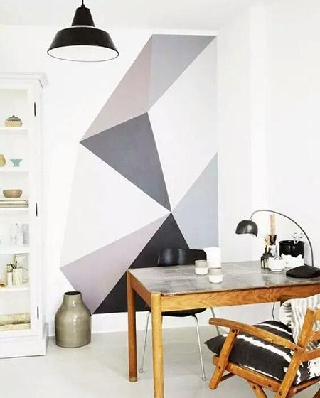 餐厅几何图案背景墙另类装修