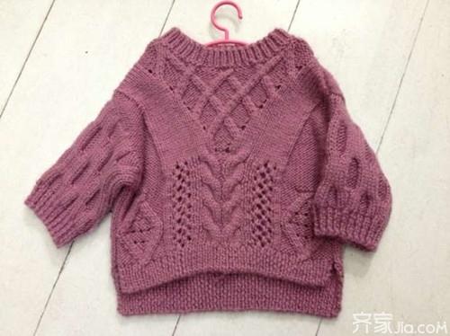 手工毛衣编织款式之渔网花