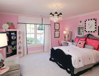 粉色系卧室装修装饰效果图