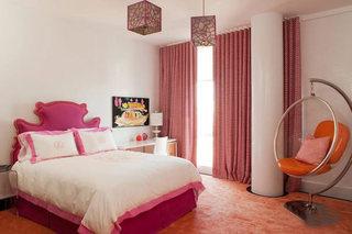 粉色系卧室布置实景图