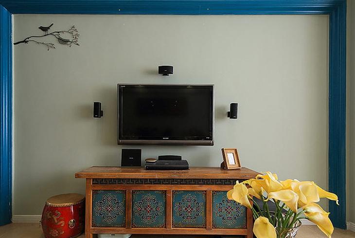 典雅美式电视柜效果图