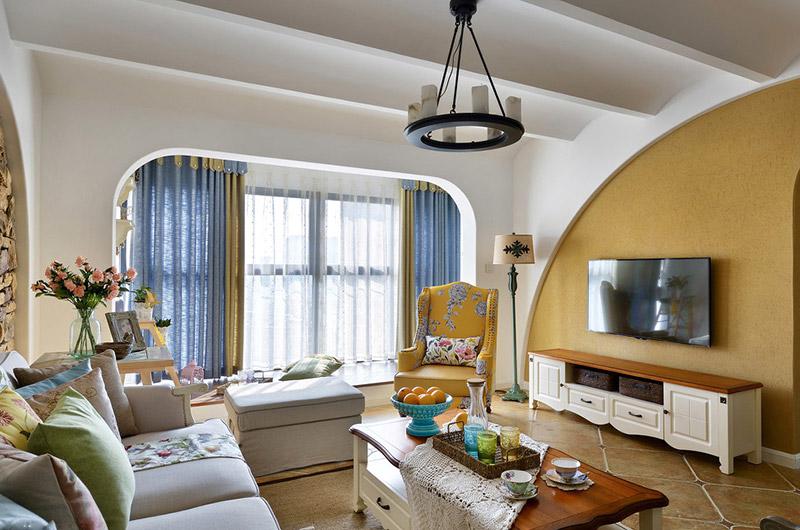 清新北欧风格 个性客厅吊顶设计_装修百科图片