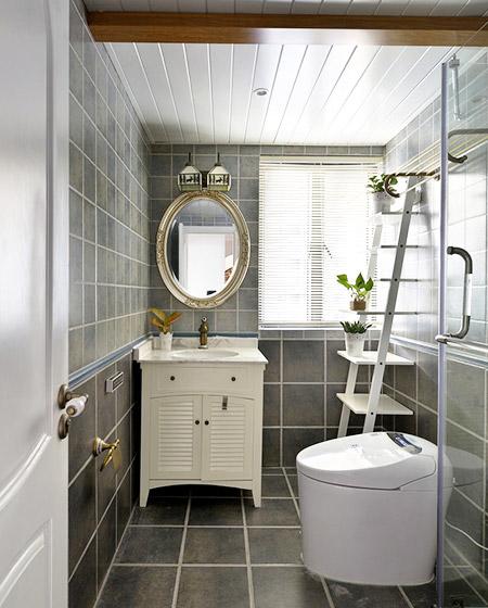 时尚灰色系美式洗手间效果图