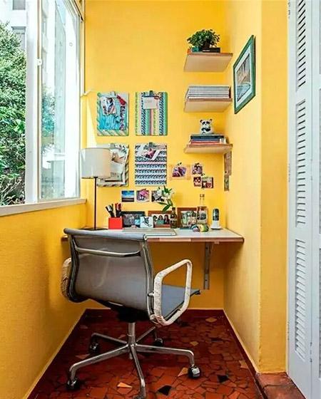 实用阳台书房装修图片