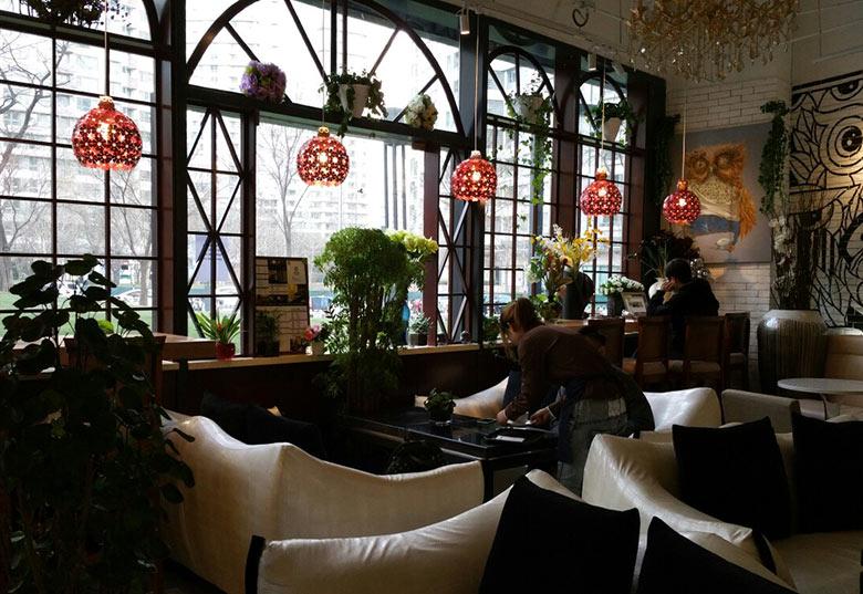 复古文艺咖啡馆图片