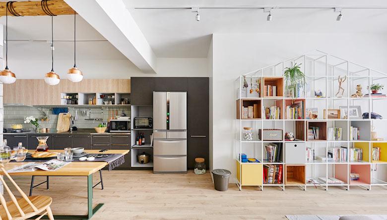 77㎡混搭一居室装修装饰效果图