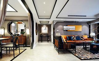165平中式风格四房装修效果图