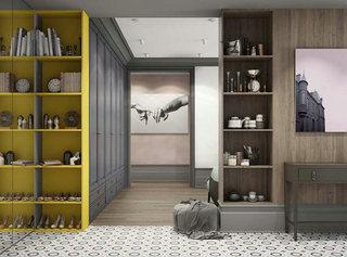 95㎡一居室走廊装饰图片大全