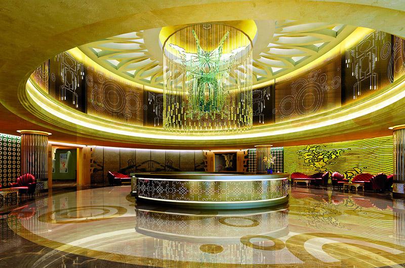 欧式酒店大厅吊顶装修图