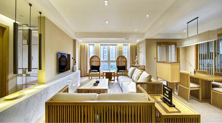 98㎡日式风格客厅布置图