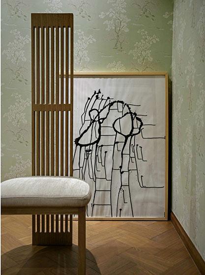 98㎡日式风格书房设计图