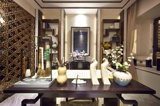 160平中式风格样板房书房效果图