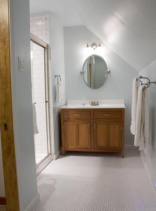 阁楼卫生间装修装饰效果图