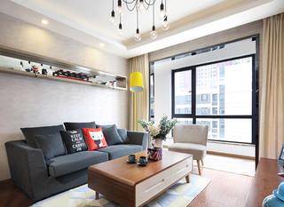 90㎡两室一厅装修装饰效果图