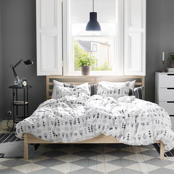 宜家床设计实景图片