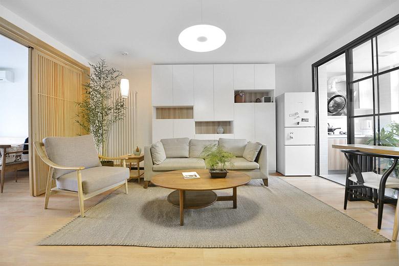 舒适宜家日式客厅效果图