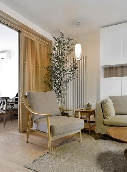 温馨宜家风 单人木沙发设计图