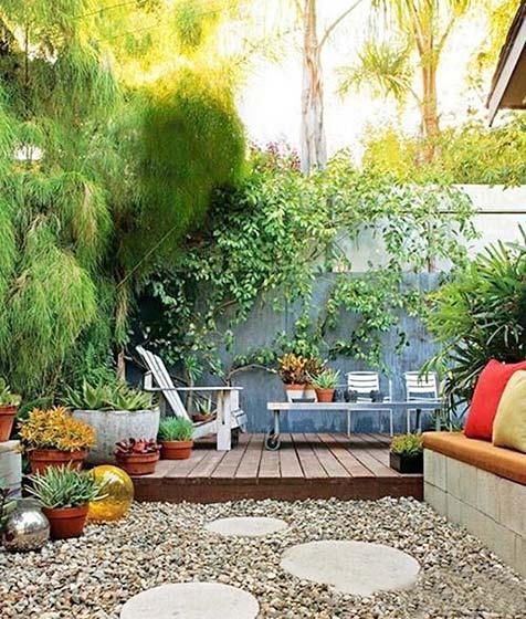 露天花园装饰效果图