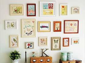 简单的家最美  10个照片墙布置实景图片